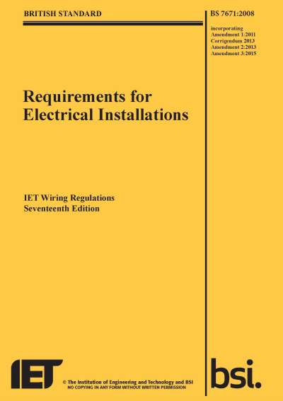 Iet Wiring Regulations Amendment 3, Iee 17th Edition Wiring Regulations