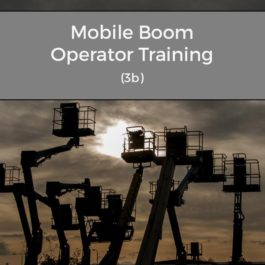IPAF Mobile Boom Operator Training (3b)
