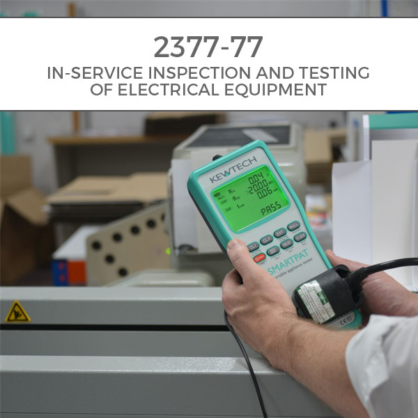 A close up of a candidate on a PAT Testing Course using a Kewtech PAT Tester